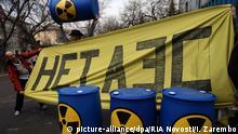 Russland Proteste gegen den Bau eines Atomkraftwerks in Baltiyskaya