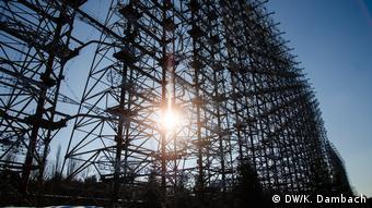 Large scaffold-looking radar system in Ukraine