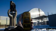 Thanks to the sarcophagus covering the reactor, very little radiation leaks into the air anymore Foto: DW/Kai Dambach