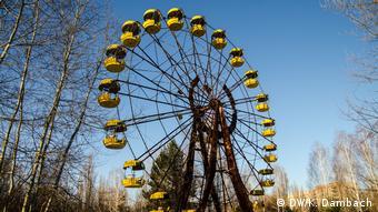 Old rusty Ferris wheel in Pripyat, Ukraine