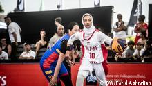 18.06.2019 *** Basketball Damen-Nationalmannschaft Iran – Dreierteam, Weltcup 2019 in Amsterdam, Spiel gegen Mongolei Rechte/Copyright: Farid Ashrafian (Redakteur Deutsche Welle)