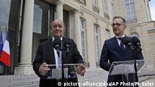 Frankreich | Treffen der Außenminister Jean-Yves Le Drian und Heiko Maas in Paris