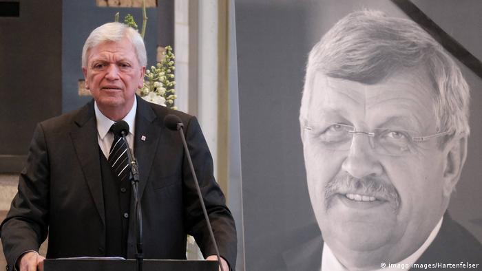 Hessens Ministerpräsident Volker Bouffier, hier bei der Trauerfeier für Walter Lübcke am vergangenen Freitag in Kassel