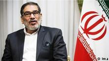 19.6.2019, Teheran, Iran, Ali Shamkhani, iranischen Sicherheitsrat Sekretär, Ali Schamchani ist ein Iranischer Admiral und war von 1997 bis 2005 iranischer Verteidigungsminister. Sein Nachfolger wurde Mostafa Mohammad Nadschar. Schamchani gehört zur Volksgruppe der arabischen Iraner und spricht neben Farsi fließend arabisch.