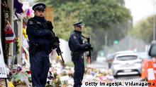 Neusseland Polizei Moschee Absperrung