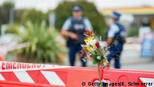 Neuseeland Polizei Absperrung Moschee Anschlag
