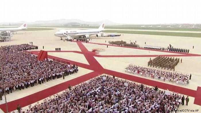Nordkorea | China | Besuch Präsident Xi Jinping (picture-alliance/CCTV via AP )