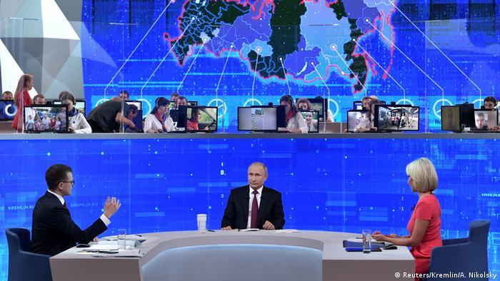На прямой линии Путина