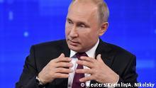 Russland Putin Fernsehsendung Direkter Draht
