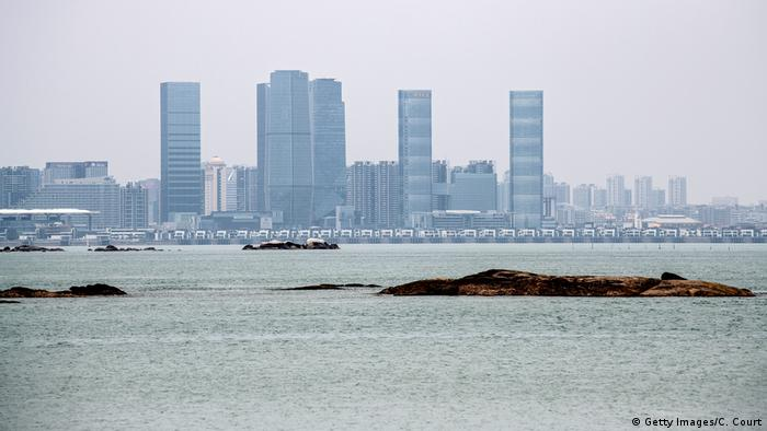Taiwanstraße Blick auf China Xamen