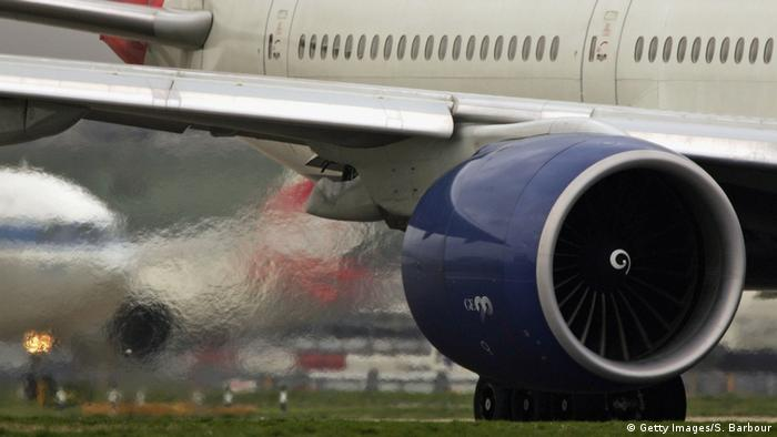 Exhaust fumes coming from a plane