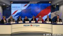Russland | Abgeordnete des deutschen Bundestags auf einer Pressekonferenz in Moskau