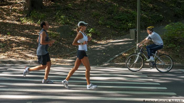 USA Jogger im Central Park in New York City