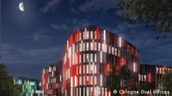 Cologne Oval Offices Nacht