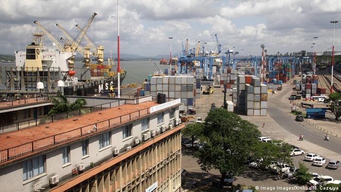 The port of Mombassa in Kenya