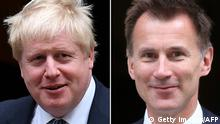 Bildkombo Boris Johnson und Jeremy Hunt
