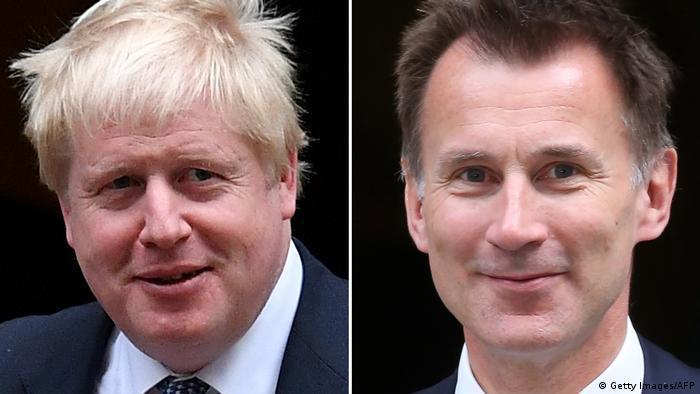 Bildkombo Boris Johnson und Jeremy Hunt (Getty Images/AFP)