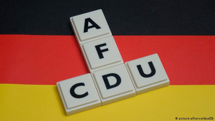 Scrabble spells out CDU and AFD
