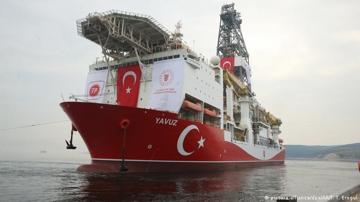 Kıbrıs'a ulaşan Yavuz adlı sondaj gemisi