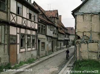 Street in a town of the former GDR