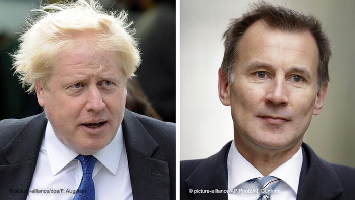 Bildkombo Großbritannien Boris Johnson & Jeremy Hunt
