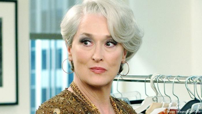 Filmszene Der Teufel trägt Prada, mit Meryl Streep. (Imago Images/UPI Photo)