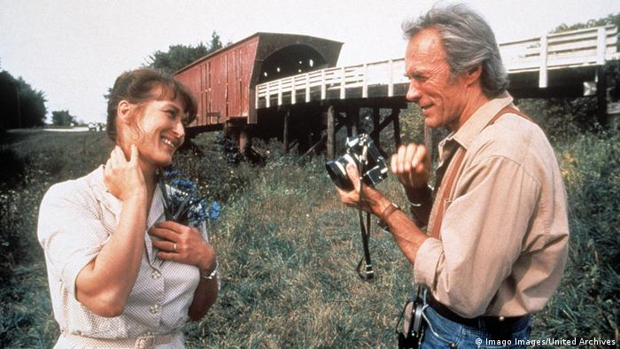 Filmszene Die Brücken am Fluss, mit Meryl Streep & Clint Eastwood