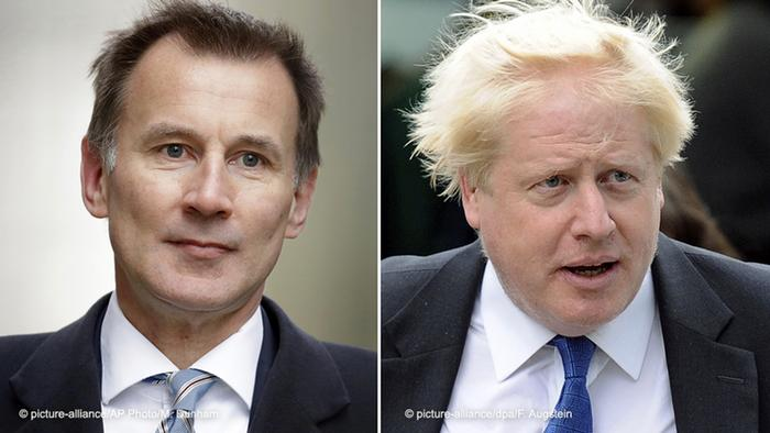 Jeremy Hunt and Boris Johnson, Britain's current and former Foreign Ministers