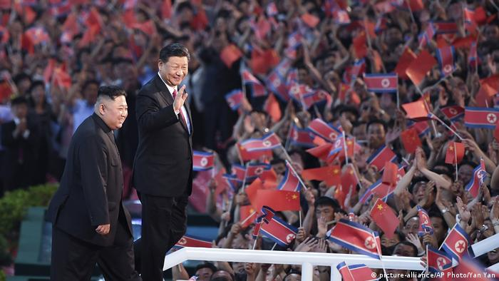 North Korea's Kim Jong Un and China's Xi Jinping