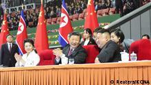 Xi Jinping in Nordkorea mit Kim Jong Un