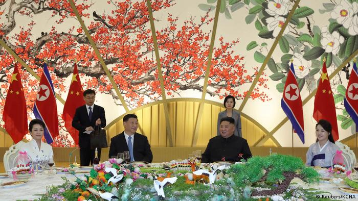 Xi Jinping meets with Kim Jong Un in North Korea. Undated photo release on June 21, 2019.