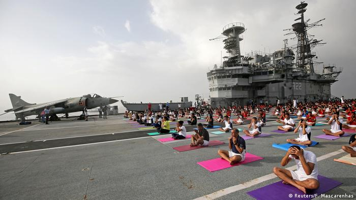International Yoga Day (Reuters/F. Mascarenhas)
