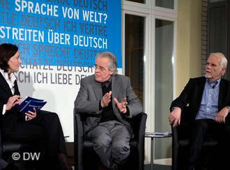Streitgespräch: Monika Dittrich, Klaus Reichert und Wolfgang Börnsen