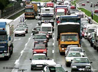 Пробка на автотрассе