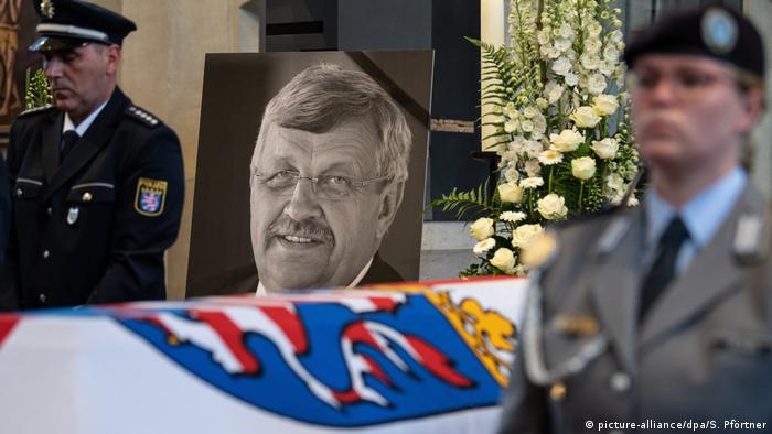The memorial ceremony for murdered politician Walter Lübcke (picture-alliance/dpa/S. Pförtner)
