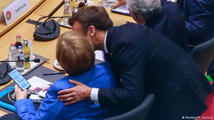 Nemačka kancelarka Merkel i francuski predsednik Makron na samitu EU u Briselu