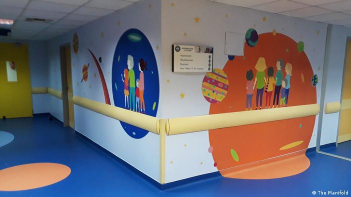 A hallway in Aghia Sofia Pediatric Hospital in Athens
