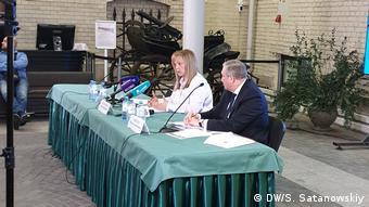 Глава ЦИК Элла Памфилова на пресс-конференции с руководителем ГИК Петербурга Виктором Миненко
