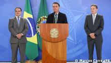 Brasilien PK vom Präsidenten Jair Bolsonaro