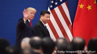 Donald Trump und Xi Jinping (Getty Images/AFP/N. Asfouri)