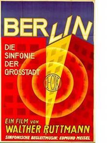 farbiges Filmplakat von Berlin, Sinfonie der Großstadt)