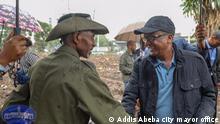 Ethiopian army chief of staff General Seare Mekonnen last public appearance Title: General Seare Mekonnen and former EPRDF top official Addisu Legesse Wo: Addis Abeba, Ethiopia Wann: 23.06.2019 Credit: Addis Abeba city mayor office