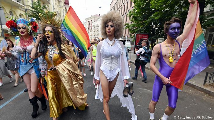 Gay Pride Marsch in Kiew (Getty Images/G. Savilov)