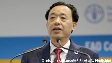 Italien Rom | Qu Dongyu, Der neue Präsident der FAO (picture-alliance/AP Photo/A. Medichini)