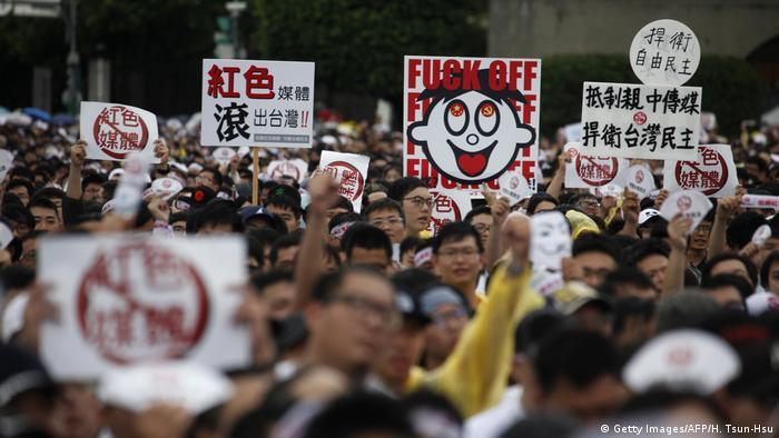 Taiwan   Proteste gegen chinesischen Einfluss