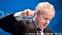 Tory leadership race. Conservative party leadership candidate Boris Johnson during the first party hustings at the ICC in Birmingham. Picture date: Saturday June 22, 2019. See PA story POLITICS Tories. Photo credit should read: Ben Birchall/PA Wire URN:43682695 |