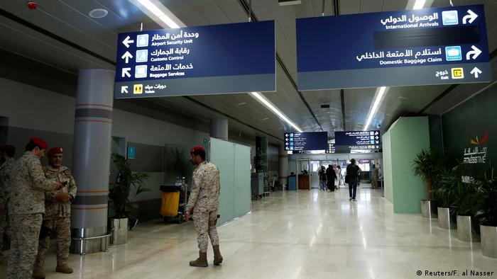 Saudi Arabien Flughafen von Abha