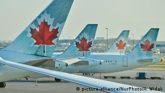 Самолеты авиакомпании Air Canada в аэропорту Торонто
