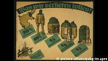 Deutschland 1919 Plakat Versailler Vertrag Gebietsabtretungen Reparationen