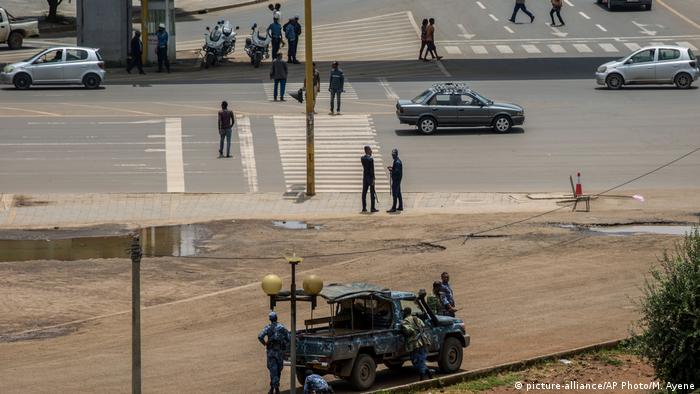 Security forces on the street in Addis Ababa